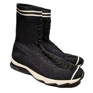 Fendi Rockoko Black Knit Sneaker Boots